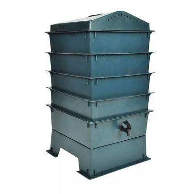 Worm Factory 4 Tray Gardening Accessories Fruit Kitchen Waste Composter Bin
