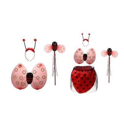 Marienkäfer Ladybird Kinderkostüm Zauberstab Stirnband Rock Halloween - Marienkäfer Kostüm Stirnband