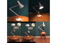 Vintage Herbert Terry anglepoise model 90 lamp retro