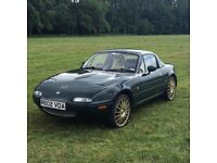 Mazda MX5 Mk1 Low Mileage, Full MOT, Serviced, Immobiliser, Convertible, Colour Coded Hard Top