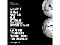 2 DJ Harvey tickets up for grabs for August 11th .