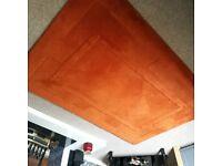Rust coloured rug