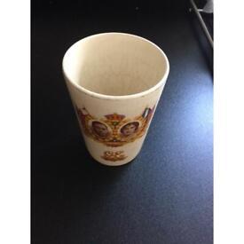 Vintage collectible Maling commemorative 1937 beaker