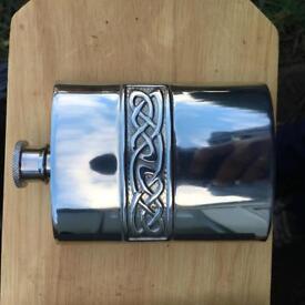 Edwin blyde Celtic hip flask brand new.
