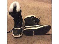 Sorel Winter Carnival Ladies Black Waterproof Boots - UK 5