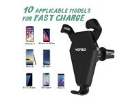 Fast Wireless Car ChargerCar Mount Air Vent Phone Holder Cradle for Samsung and Iphone