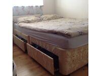 King size divan bed and mattress
