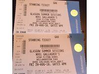 2 x Noel Gallagher tickets Bellahouston Park
