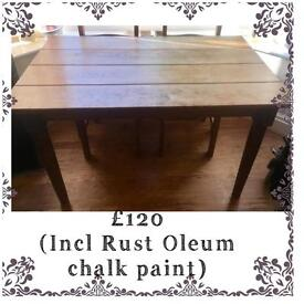 REDUCED ANTIQUE FARMHOUSE TABLE & CHAIRS