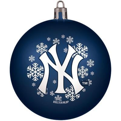 (Too Cool! Licensed New York Yankees Shatter-Proof Ball Christmas Ornament __B24)
