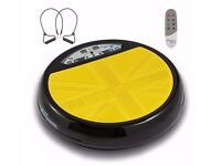 Vibrapower Disc 2 Vibrating Exercise Ltd Edition Resistance Bands&remote YELLOW