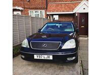 Lexus LS430 4.3L V8 Luxury Saloon 2001 Automatic in Dark Blue Metallic - FSH 9 STAMPS - SAT NAV