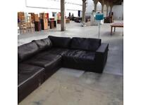 Contempo Italian leather corner sofa