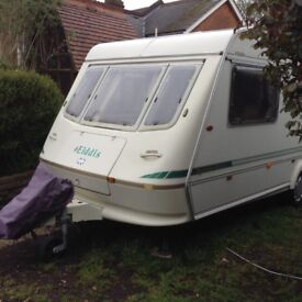 Elddis typhoon EX300 4 Berth End Bathroom Motor Mover Kampa Ace Air Awning Very Good Condition