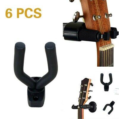 6x Soporte Ajustable Pared para Colgar Guitarra Eléctrica Española Bajo Colgador