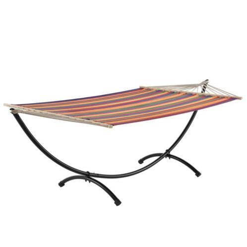 Hangmat Standaard Metaal.Katoenen Hangmat Met Metalen Standaard Meerkleurig
