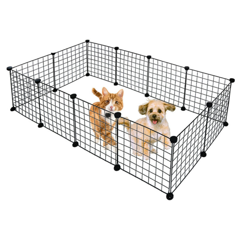 12 X Metal Panels Small Dog Cat Pets Playpen Wire Yard Crate