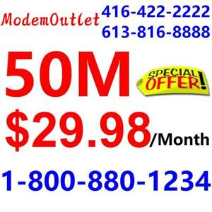 LOWEST PRICE - Unlimited 50M $29.98/month. Please Call 1-800-880-1234 to order , or SMS / WhatsApp 416-822-8888