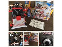 Mattel WWE slam city and 7 figures BOXED
