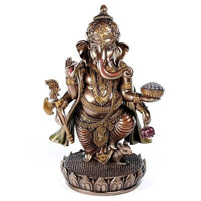 Ganesha Statue 7 5  Standing High Quality Bronze Resin Hindu Elephant God Ganesh