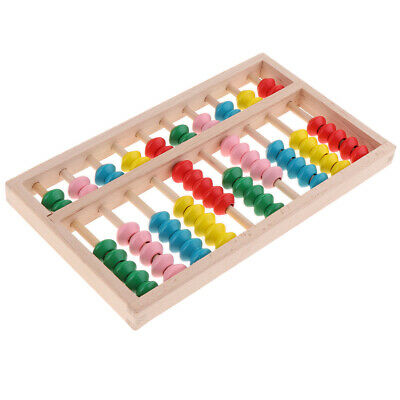 10 Digits Rods Wooden Abacus Colorful Chinese Calculator Counting Tool