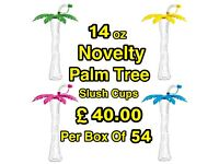 Novelty Palm Tree Slush Cups.