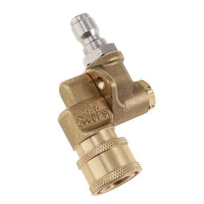 Pivot Coupler 14 Quick Connect Pressure Washer Nozzle 4500 Psi New