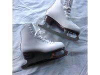 Girls White Ice Skating Boots