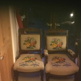 Lovely grandfather and grandmother chairs