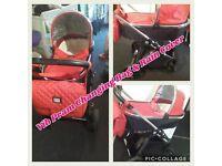 Baby Pram (Red Vib) (OFFERS)