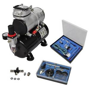 Airbrush compressor set with 2 pistols (SKU 140285) vidaXL Mount Kuring-gai Hornsby Area Preview