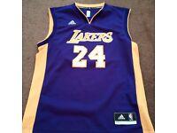 Adidas Men's Los Angeles Lakers Kobe Bryant Purple Player Swingman Jersey M