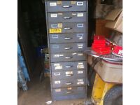 Big Industrial Metal Drawers with Metal Tray Inserts