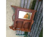 Small wall cabinet Bevel mirror with key