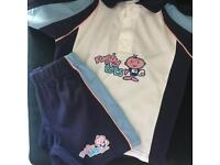 Brand New Rugby Tots suit size 3-4