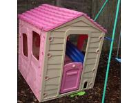 Pink meadow cottage playhouse