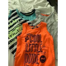 Boys vest tops 1-5-2years