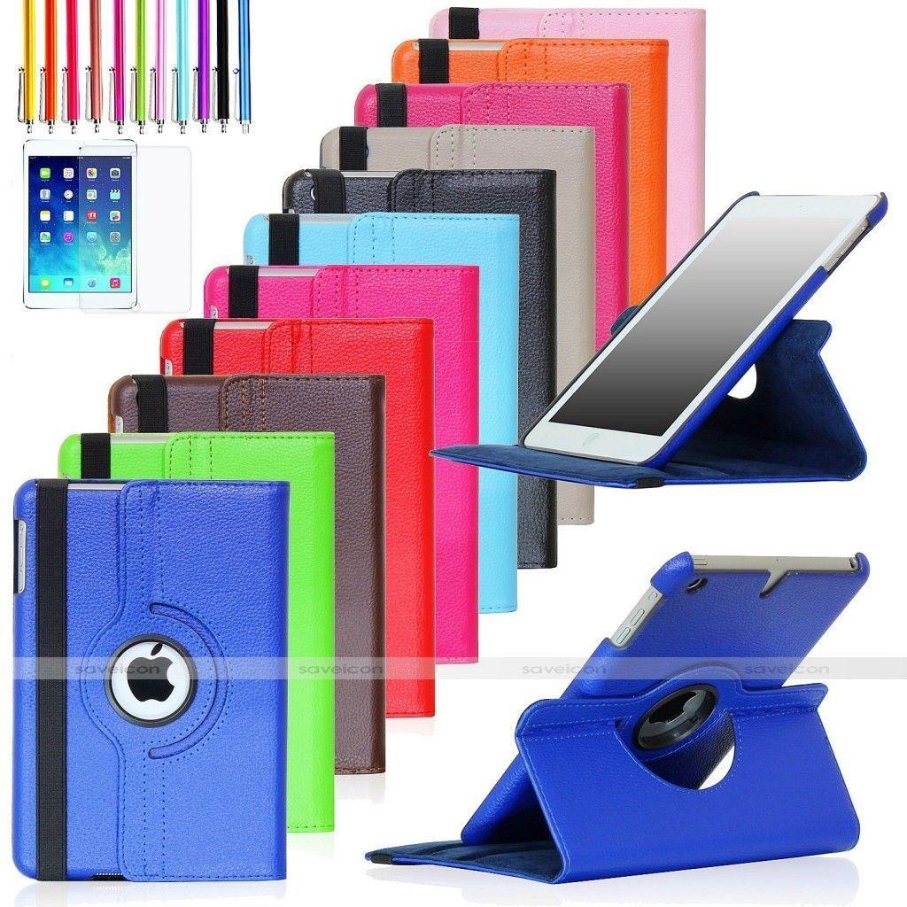 Ipad Mini Case - For Apple iPad Mini 2 3 4 iPad Air 360 Rotating Leather Folio Case Cover Stand