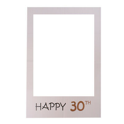 Decorations For 30th Birthday Party (30th Birthday Selfie Frame Decor Happy 30TH Photo Booth Props for Birthday)