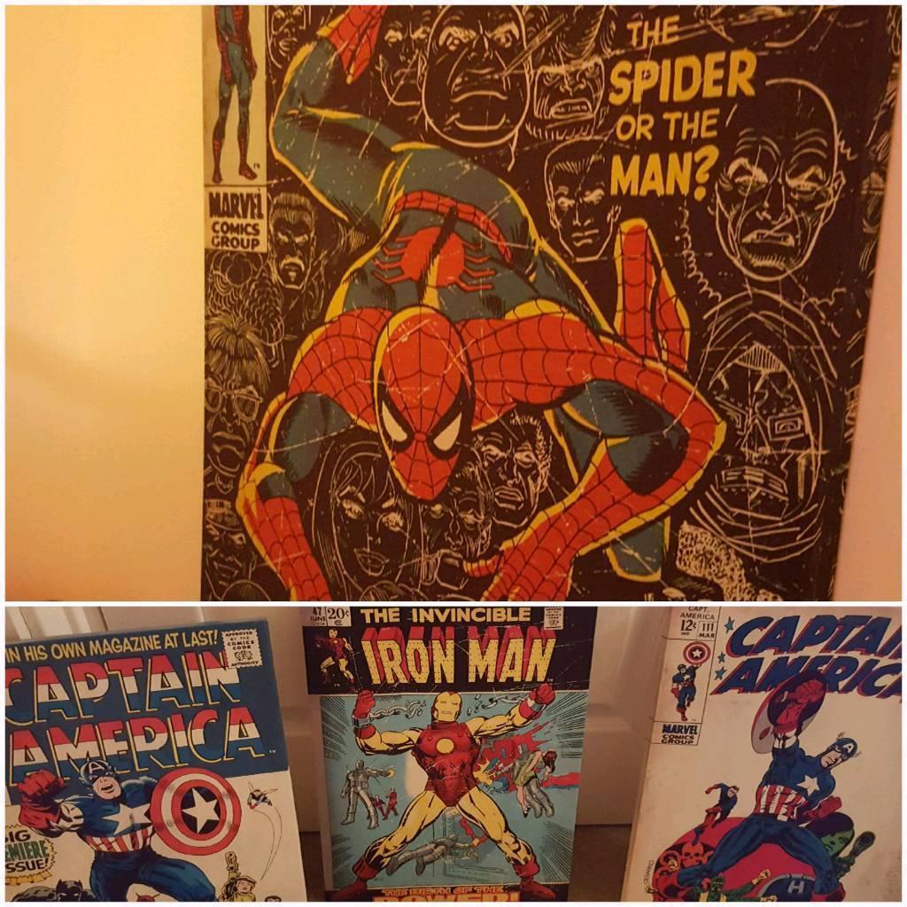 Marvel/spiderman Canvasses