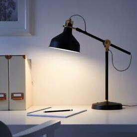 IKEA desk lamp light - black