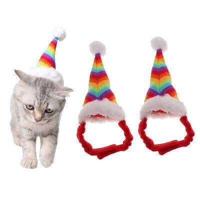 2pcs Weihnachten Weihnachten Pet Kostüme Hüte für Kleintiere Hamster