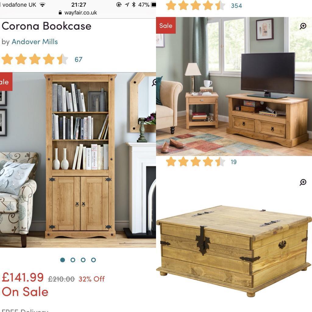 Corona Solid Pine furniture - 3 pieces