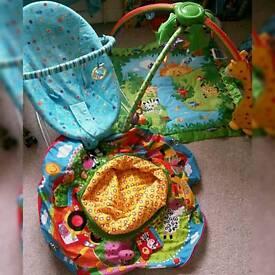 Bouncer seat playnest playmat