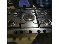 Neff five burner stainless steel gas hob