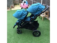 Baby Jogger City Select double single teal blue pushchair