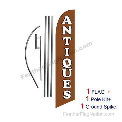 Antiques Feather Banner Swooper Flag Kit With Polespike