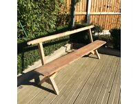 Old pine long bench, suitable for garden or utility or boot room