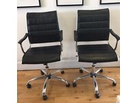 2 x Leather meeting room chairs for sale