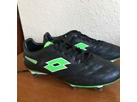 Quality lotto leather football boots size 9